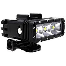 Dual battery waterproof LED light