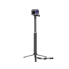 0.9 m  Carbon Fiber Selfie monopod with Aluminum tripod Stand for GoPro